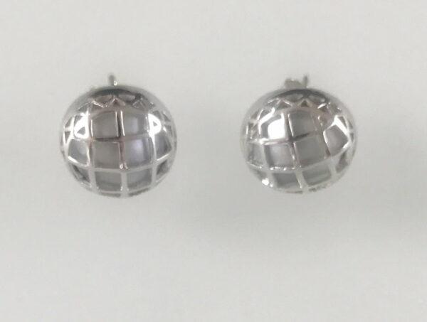 Liddon Pearls Cage Stud Earings