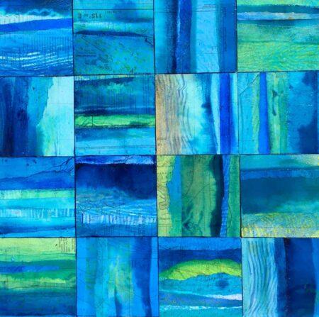 Narelle Pendlebury Aqua Immersion 3 Painting