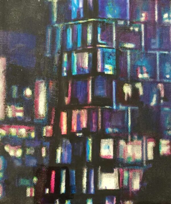 Narelle Pendlebury Council House Night Blues Painting
