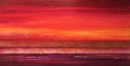 Narelle Pendlebury Magenta Gold Painitng