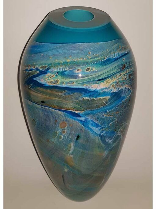 Rick Cook Ningaloo Series Dreaming Glass Art