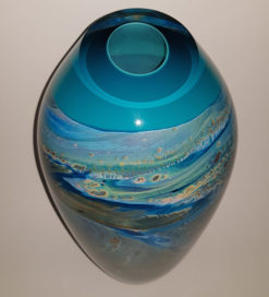 rick cook ningaloo series dreaming glass vase