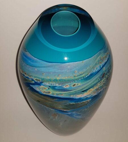Rick Cook Ningaloo Series Dreaming Glass Vase