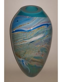 rick cook ningaloo sreies journey glass vase