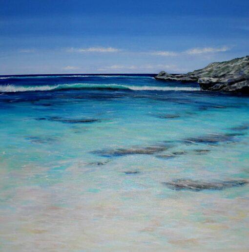 Ann Steer Reef Break Rottnest Acrylic Painting