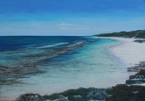 ann steer aqua lagoon painting