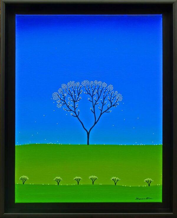 Bonnie Atlan Glowing Painting Framed