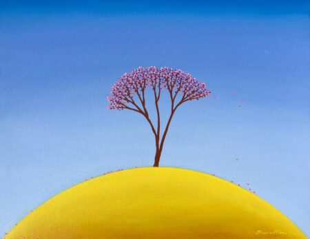 Bonnie Atlan Yellow Hill Painting