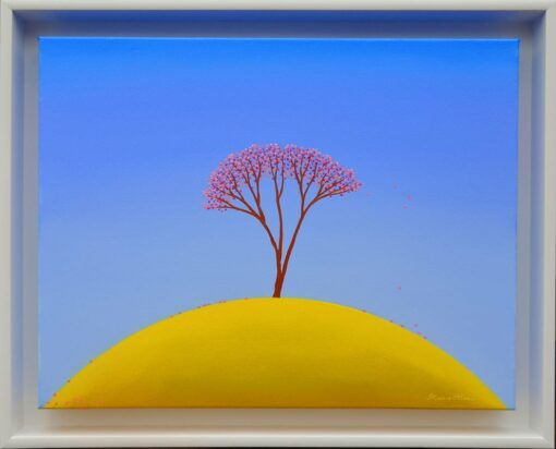 bonnie atlan yellow hill painting framed