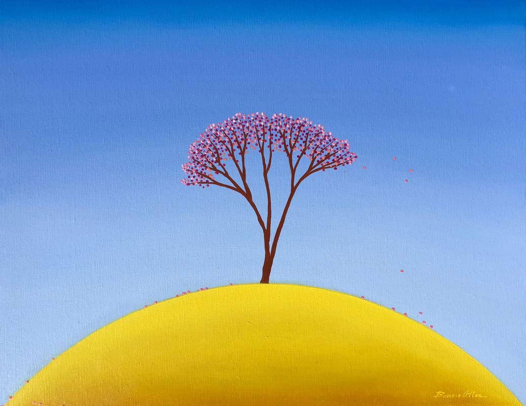 bonnie atlan yellow hill painting