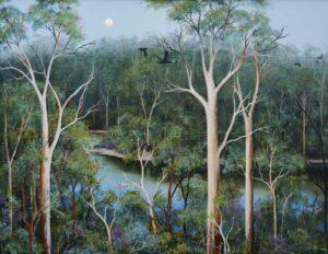 Ingrid Windram Heartbreak Trail Pemberton Painting 1