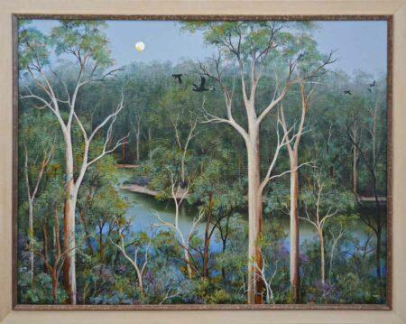 Ingrid Windram Heartbreak Trail Pemberton Painting Framed