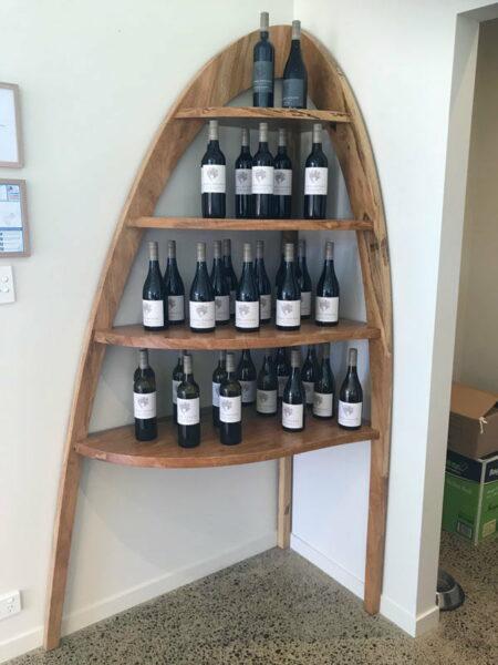 Passel Estate Corner Wine Display Shelves 2