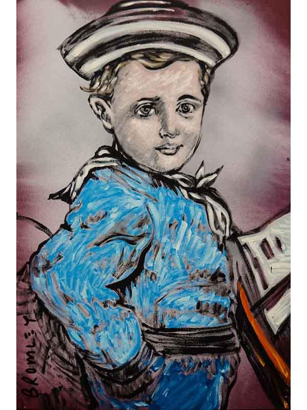 David Bromley Sailor Boy Painting