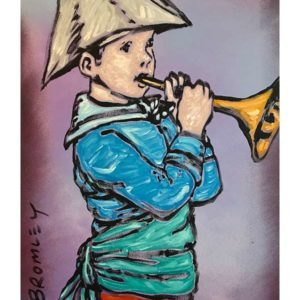 david bromley trumpet boy painting