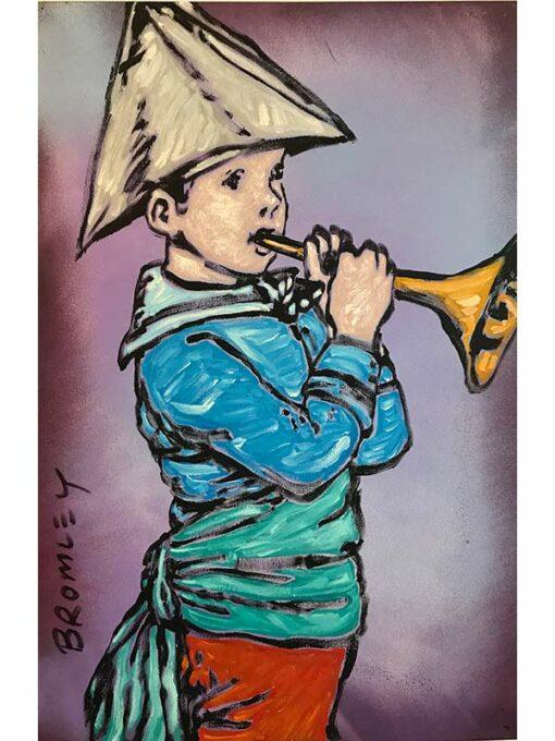 David Bromley Trumpet Boy Painting 1