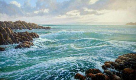 Kerry Nobbs Ocean Series 5 Canal Rocks Painting