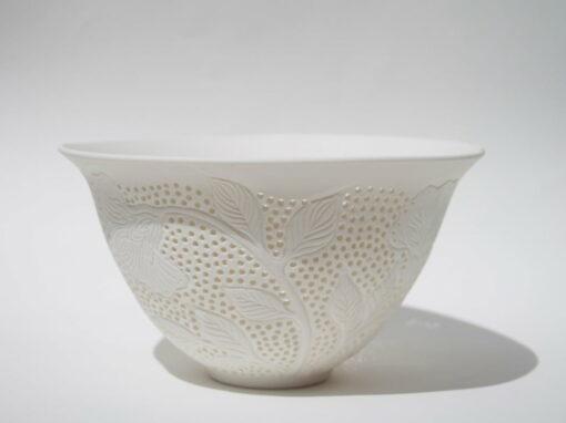 dariya gratte pierced flower bowl large ceramic vase