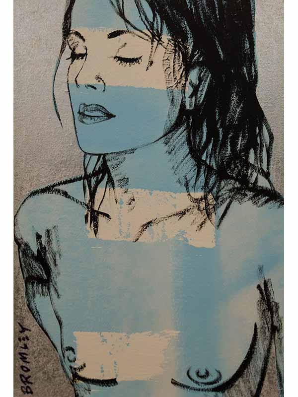 David Bromley Belinda In Silver Painting