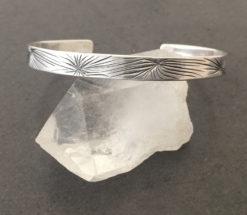 emma cotton spinafex cuff silver bracelet