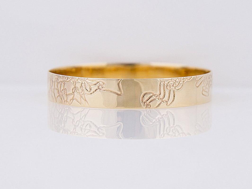 6ee93d1bd82 Gemma Baker - Embossed Gold Bangle • Fine Furniture Design   Fine ...