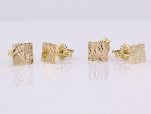 gemma baker embossed gold stud earings pairs