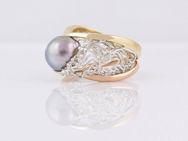 Gemma Baker Intrinsic Knitted Pearl Ring Side 2