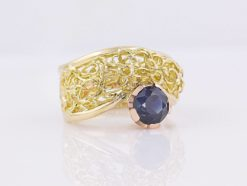 gemma baker intrinsic rubyvale sapphire knitted ring