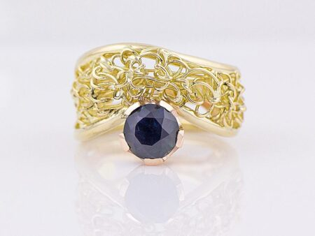Gemma Baker Intrinsic Rubyvale Sapphire Knitted Ring Gba306