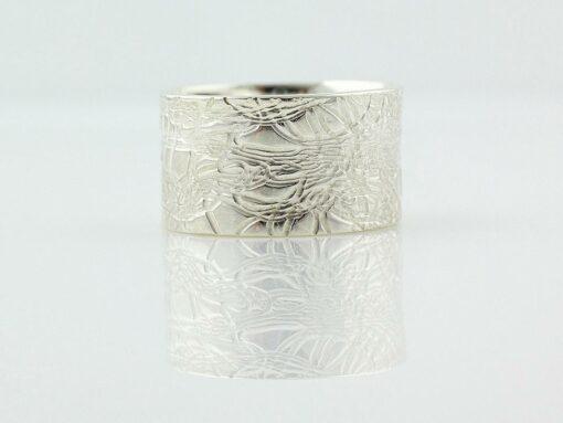 gemma baker silver embossed ring mm gba