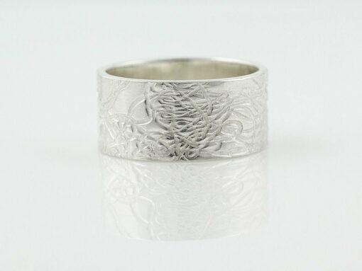 gemma baker silver embossed ring