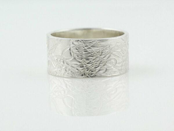 Gemma Baker Silver Embossed Ring 2