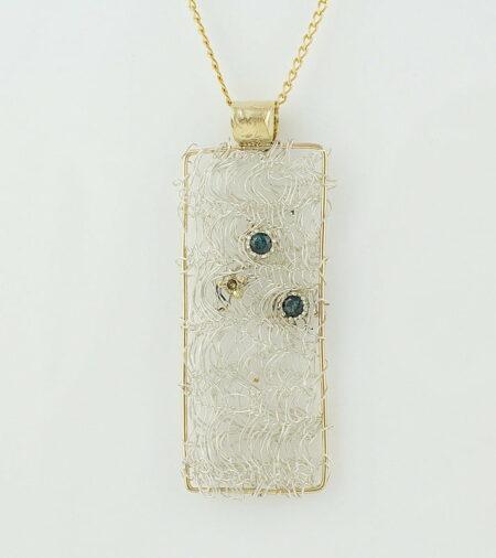 Gemma Baker Tourmaline Diamond Knitted Pendant