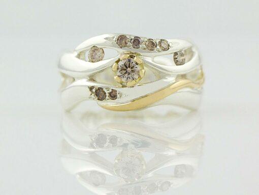 gemma baker wave argyle diamond ring gba