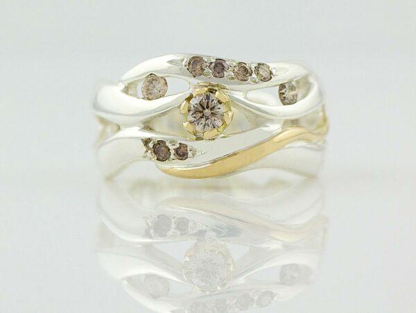 Gemma Baker Wave Argyle Diamond Ring Gba318