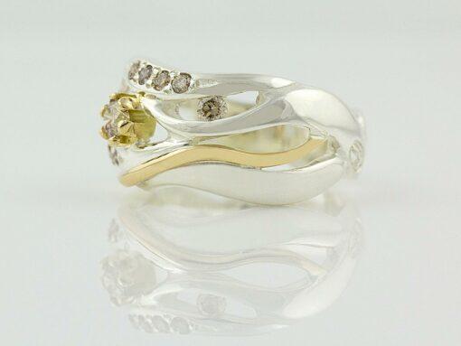 gemma baker wave argyle diamond ring side