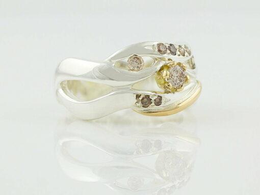gemma baker wave argyle diamond ring side gba