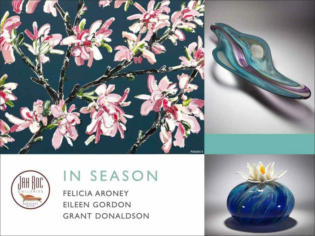 in season exhibition jahroc galleries website banner with border