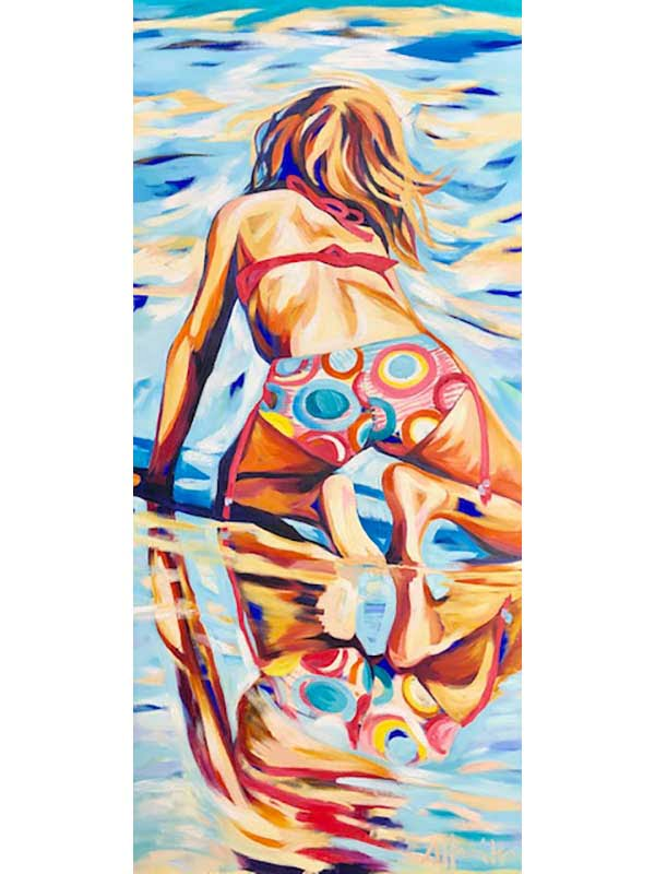 Shanon Hamilton Reflection Cable Beach Broome Painting