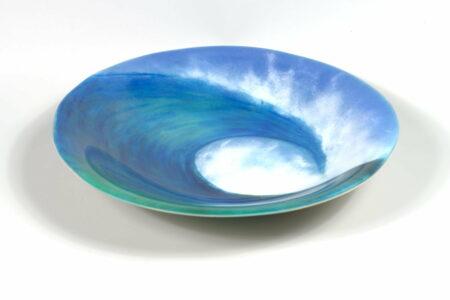 Vivienne Jagger Rolling Wave Bowl Glass Art
