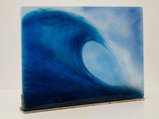 Vivienne Jagger Rolling Wave Glass Panel Side 1