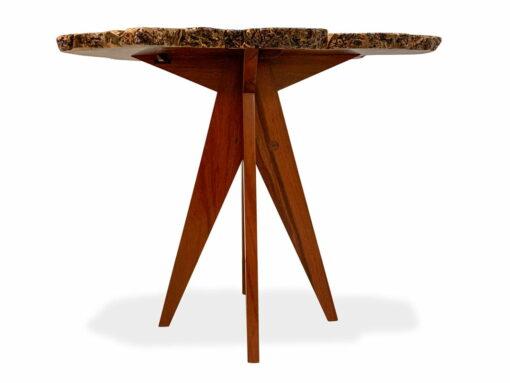 47 Natural Jarrah Burl Bar Table