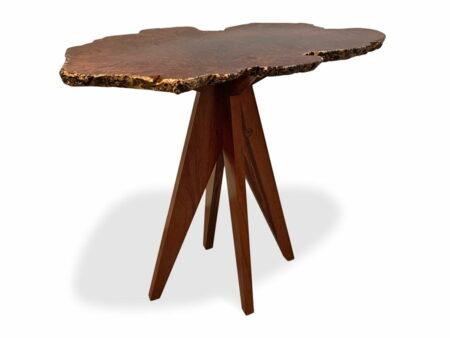 47 Natural Jarrah Burl Bar Table Top Angle