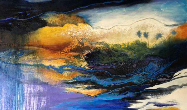 Astrid Dahl Surfing The Rain Painting