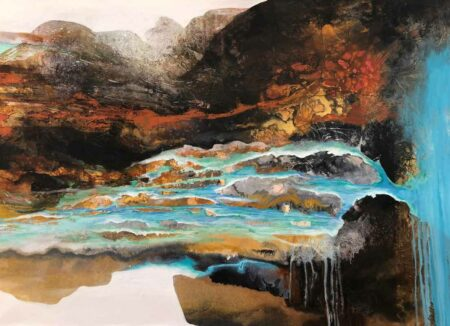 Astrid Dahl We Meet In Our Hidden Canyon Painting