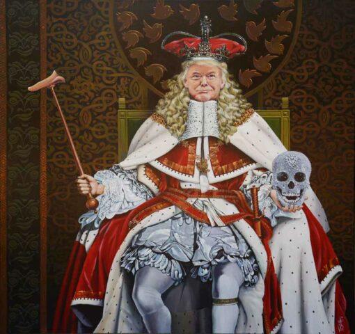 John Mcintosh 67 Fake Nose Trump Painting