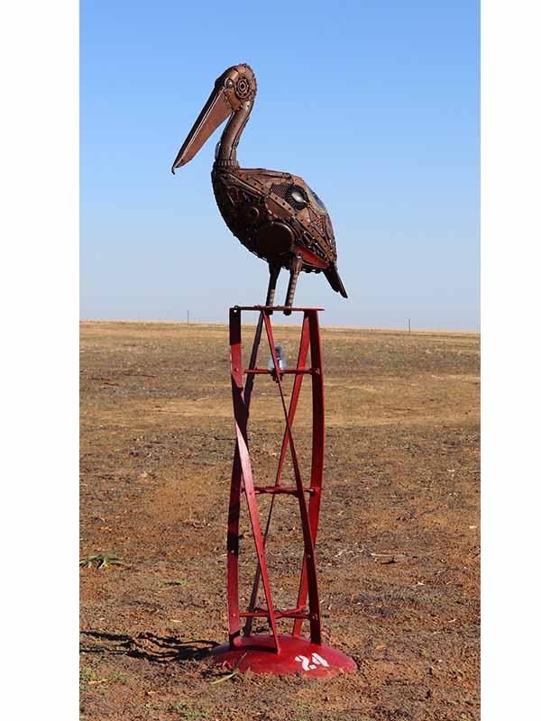 Jordan Sprigg Pelican Recycled Metal Sculpture