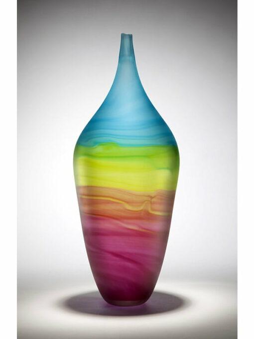eileen gordon ocean sunset bottle tall glass