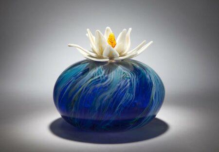 Eileen Gordon Water Lily Front Glass Art