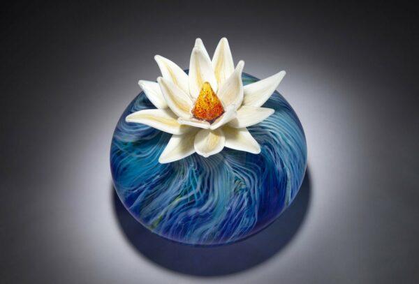 Eileen Gordon Water Lily Glass Art Top